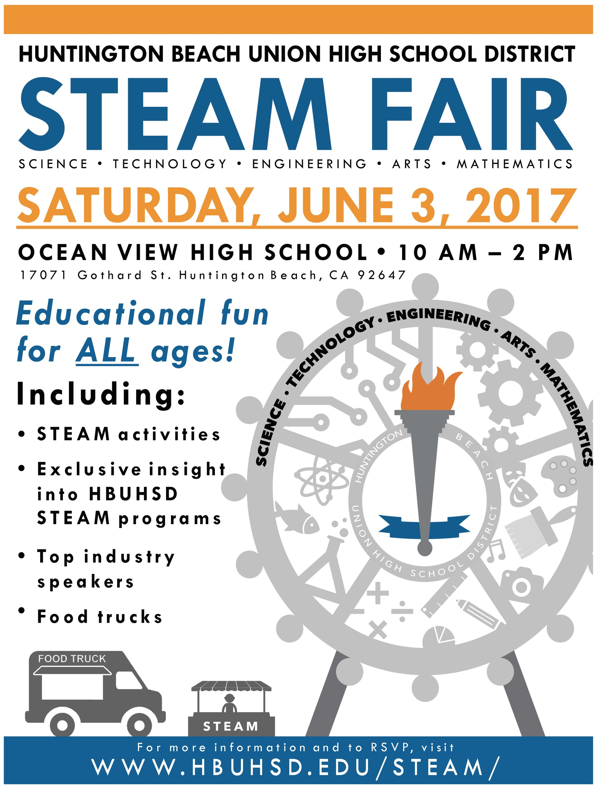 STEAM FAIR flyer.