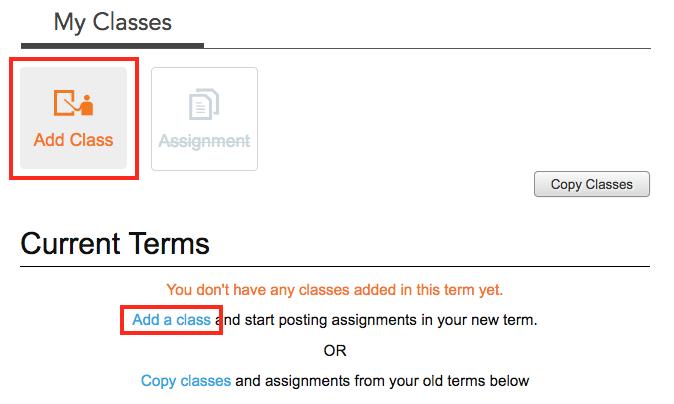 Click Add Class