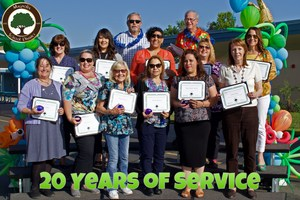 20 Years of Service Awards