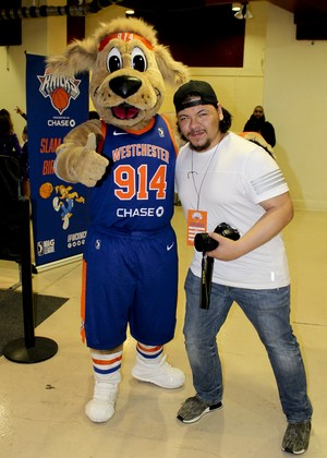 Kevin with the mascot