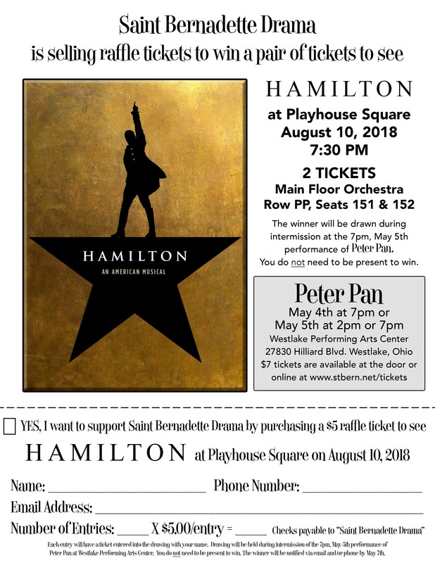 Win (2) Tickets to see Hamilton at Playhouse Square on August 10, 2018 Featured Photo