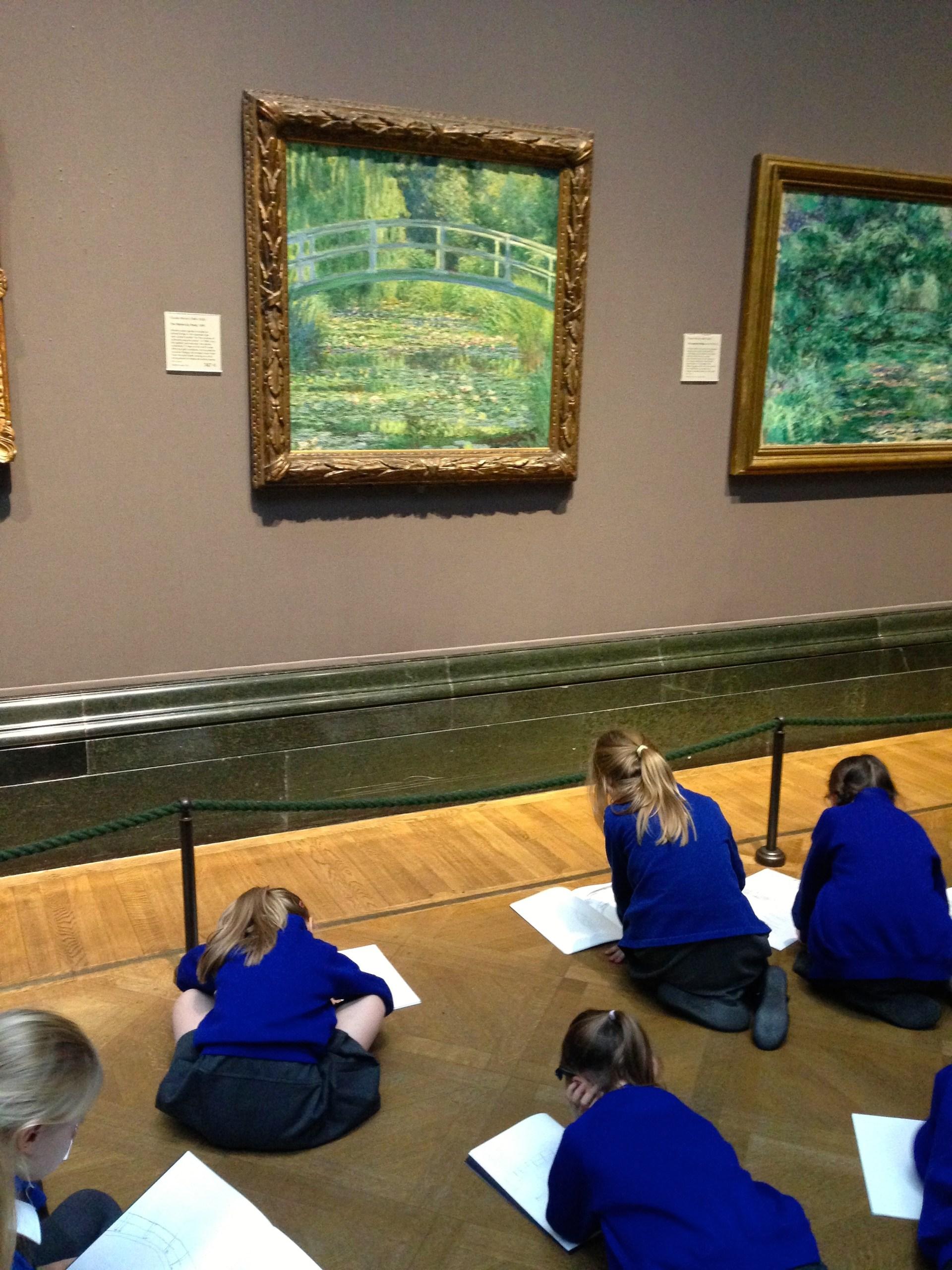 Children Sketching Monet