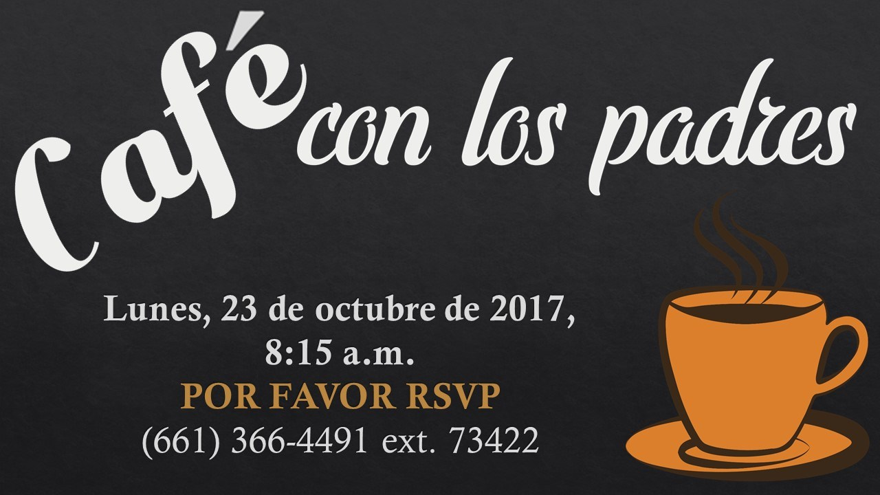 Coffee with Parents Spanish Flyer