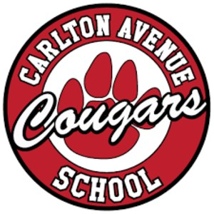 circle with carlton avenue school and paw print