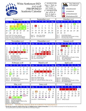 2017-18 Proposed Academic Calendar
