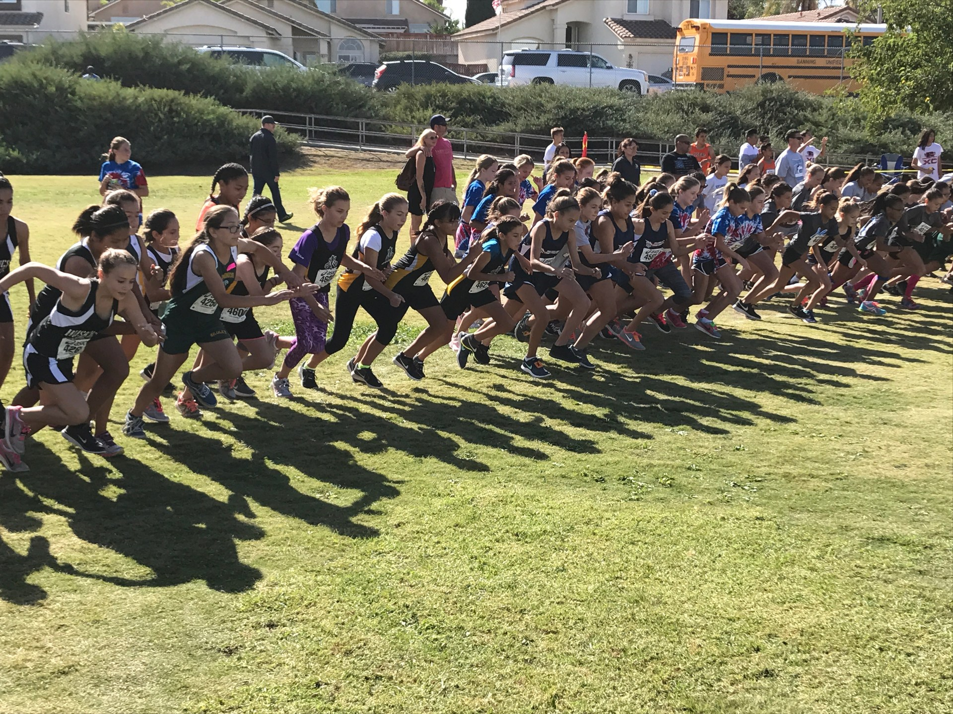 7th Grade Girls at the start at Vail Ranch