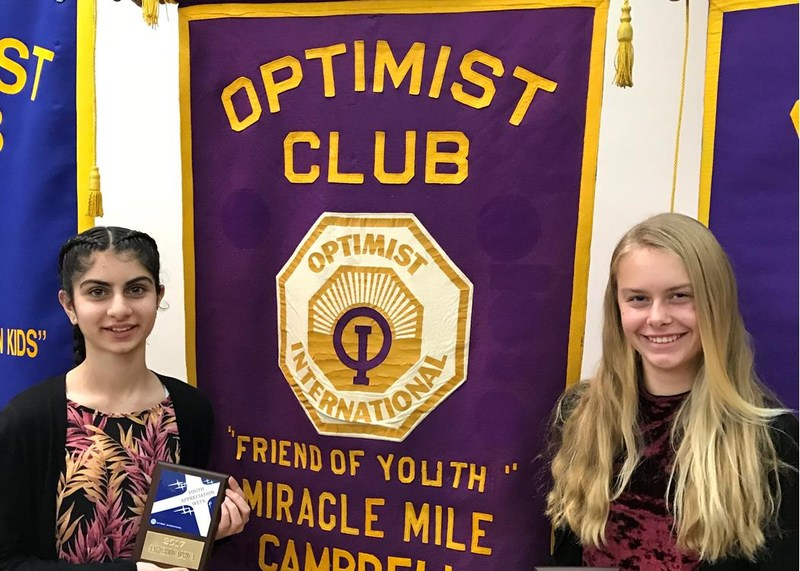 "Two MMS Students Receive ""Miracle Mile Optimist Club of Campbell"" Award Thumbnail Image"