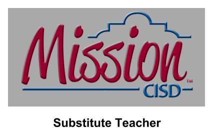 Mission CISD Logo Substitute Teacher