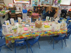 classroom ready to celebrate easter egg hunt