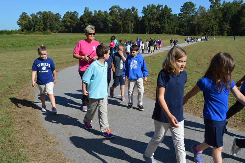 Schools participate in Walk to School Day Thumbnail Image