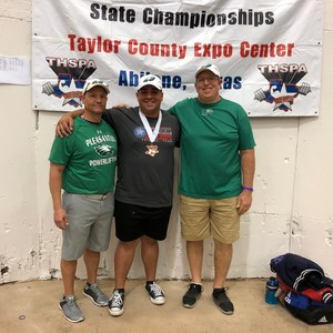 two coaches with competitor