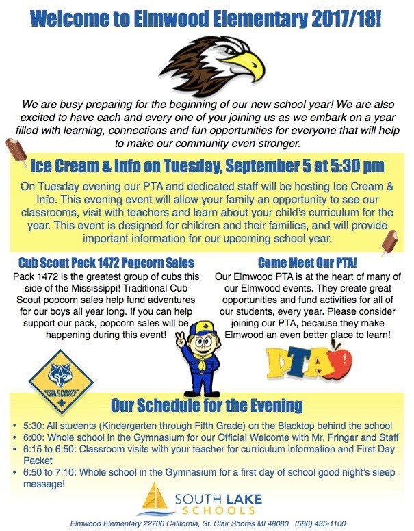 Photo of flyer that includes details about the Ice Cream and Info event.
