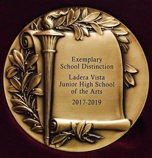 The award presented to Ladera Vista Junior High School of the Arts