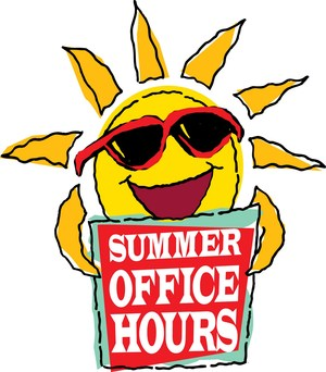 Summer hours clipart