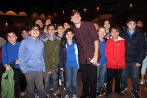 Pictured are MCISD students with Jack Andraka.