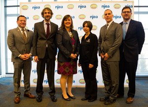 From Left to Right: Steve Beatty (Secretary Treasurer of New Jersey Education Association), David Friedrich (Principal), Helen Corveleyn (5th Grade Science/Social Studies Teacher), Denise Menza (Director of Food Services), Dr. Thomas Smith (Superintendent of Schools), Randall Solomon (Executive Director of Sustainable Jersey)