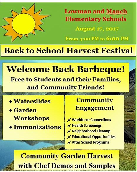 Back to School Harvest Festival this Thursday! Thumbnail Image