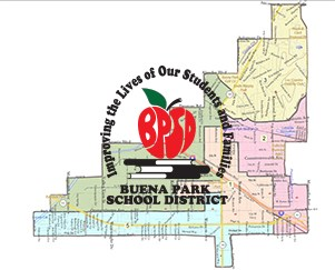 District map and logo
