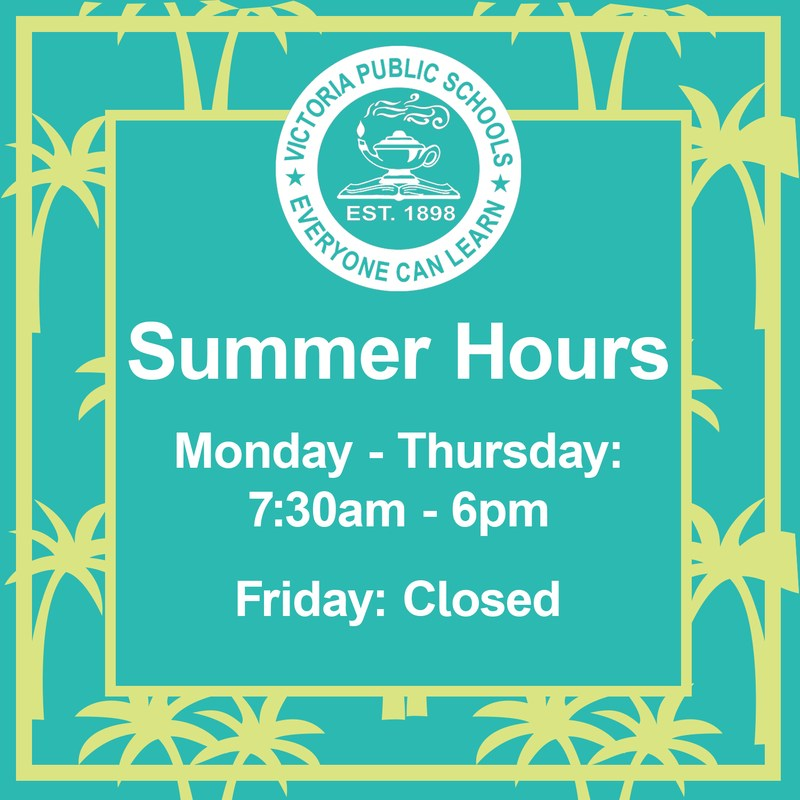 Modified Summer Hours for June Thumbnail Image