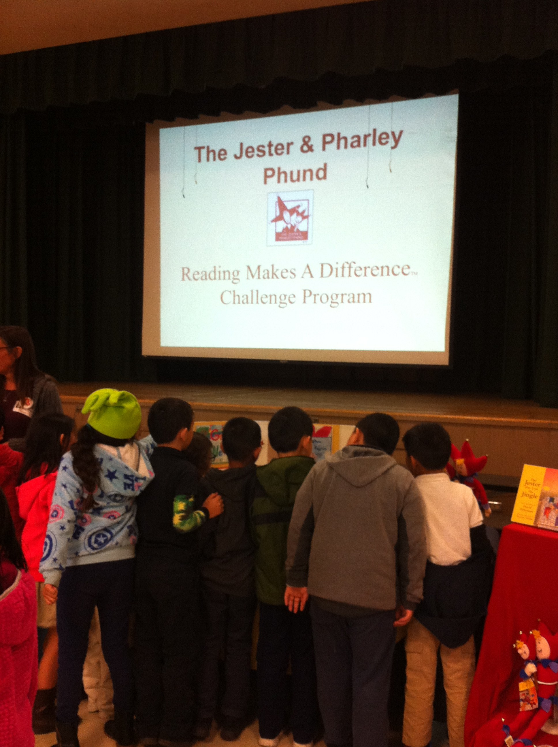 Students during the Jester and Pharley Phund Read-A-Thon