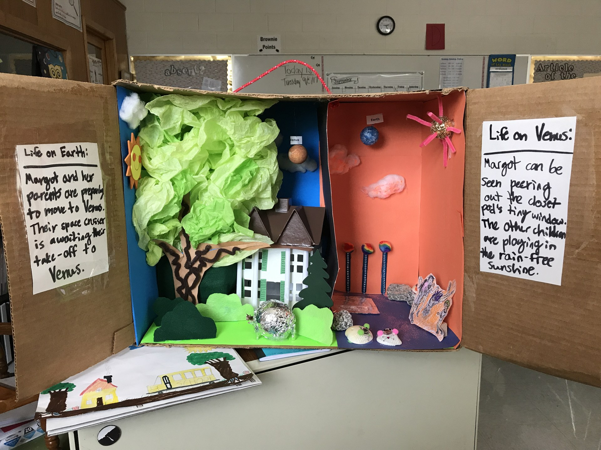 Lily's diorama explains how Margot's worlds changed