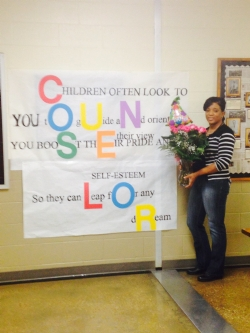 Ms. Nimmer and Counselor Banner