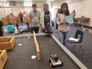 Students with Robotics