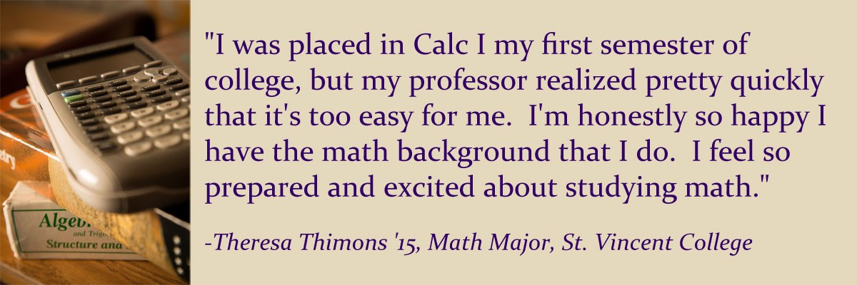 quote from student about success in math