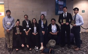 Picture of students advancing in individual events