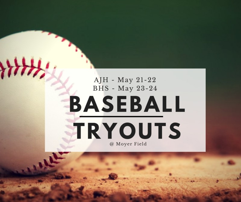 AJH Baseball Tryouts planned for May 21-22 Thumbnail Image