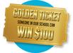 Golden ticket to win contest.