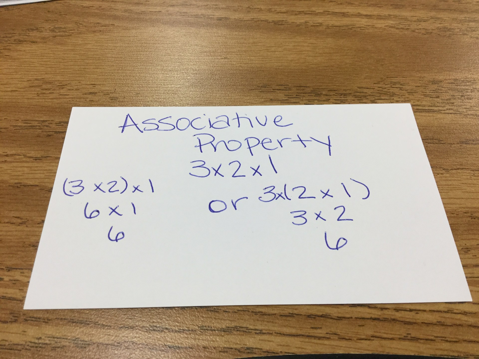 Associative Example