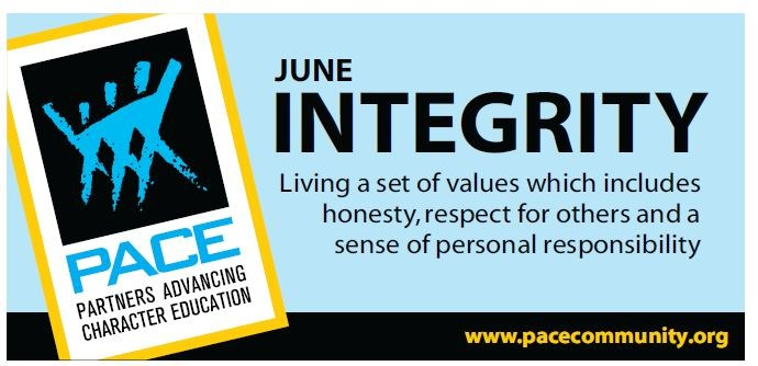 PACE Character Trait - June - Integrity