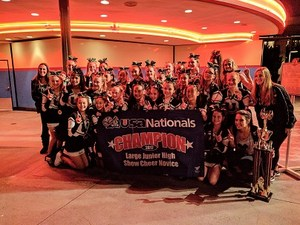 2016-17 Cheer team