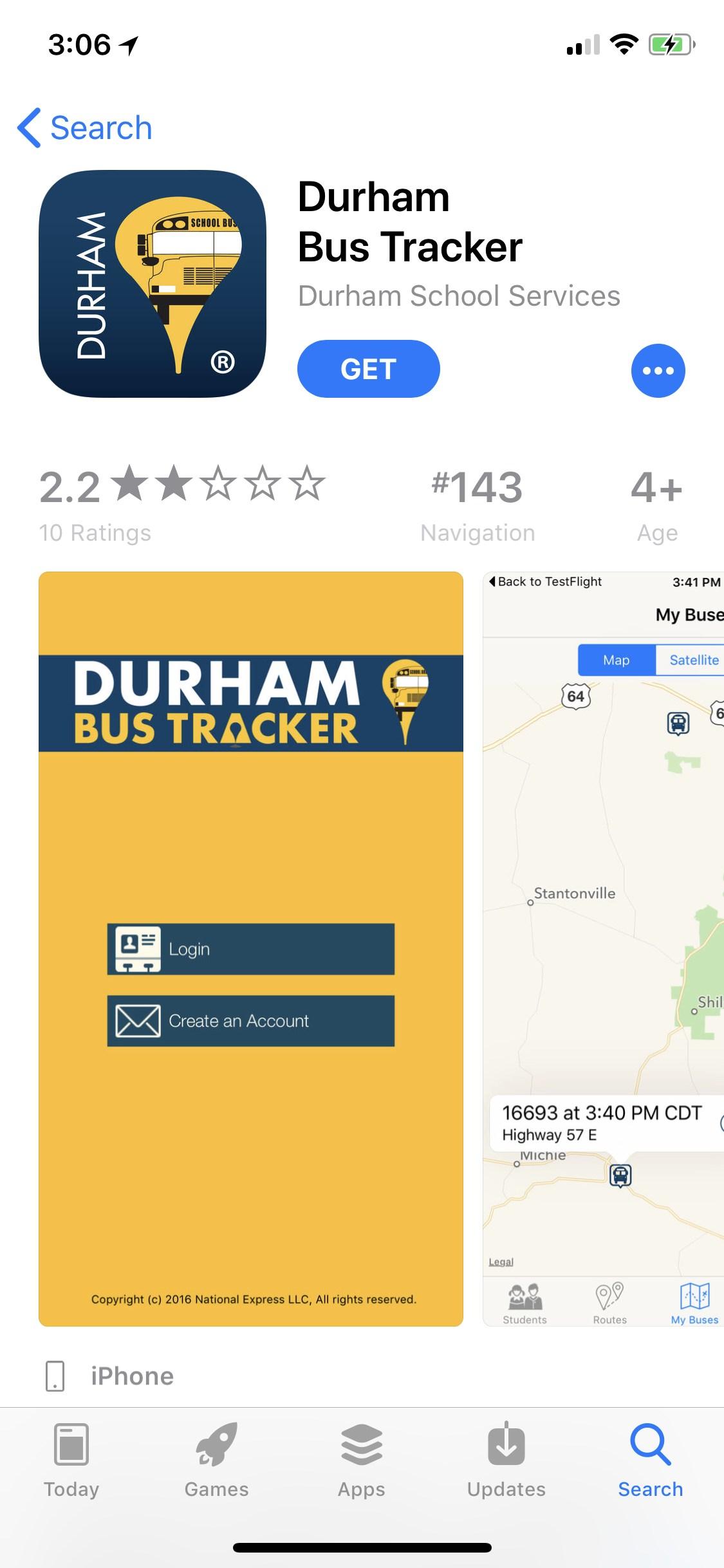 Durham Bus Tracker App – Transportation – Bartlett City Schools