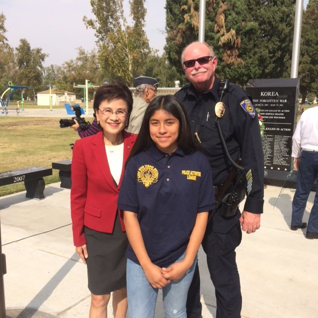 KHSD PAL student with Mayor Karen Goh