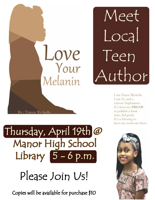 Local Teen Author book-signing on April 19th from 5 – 6 p.m. Thumbnail Image
