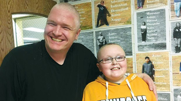 Brandywine Elementary teacher shaves head for student battling rare condition Thumbnail Image