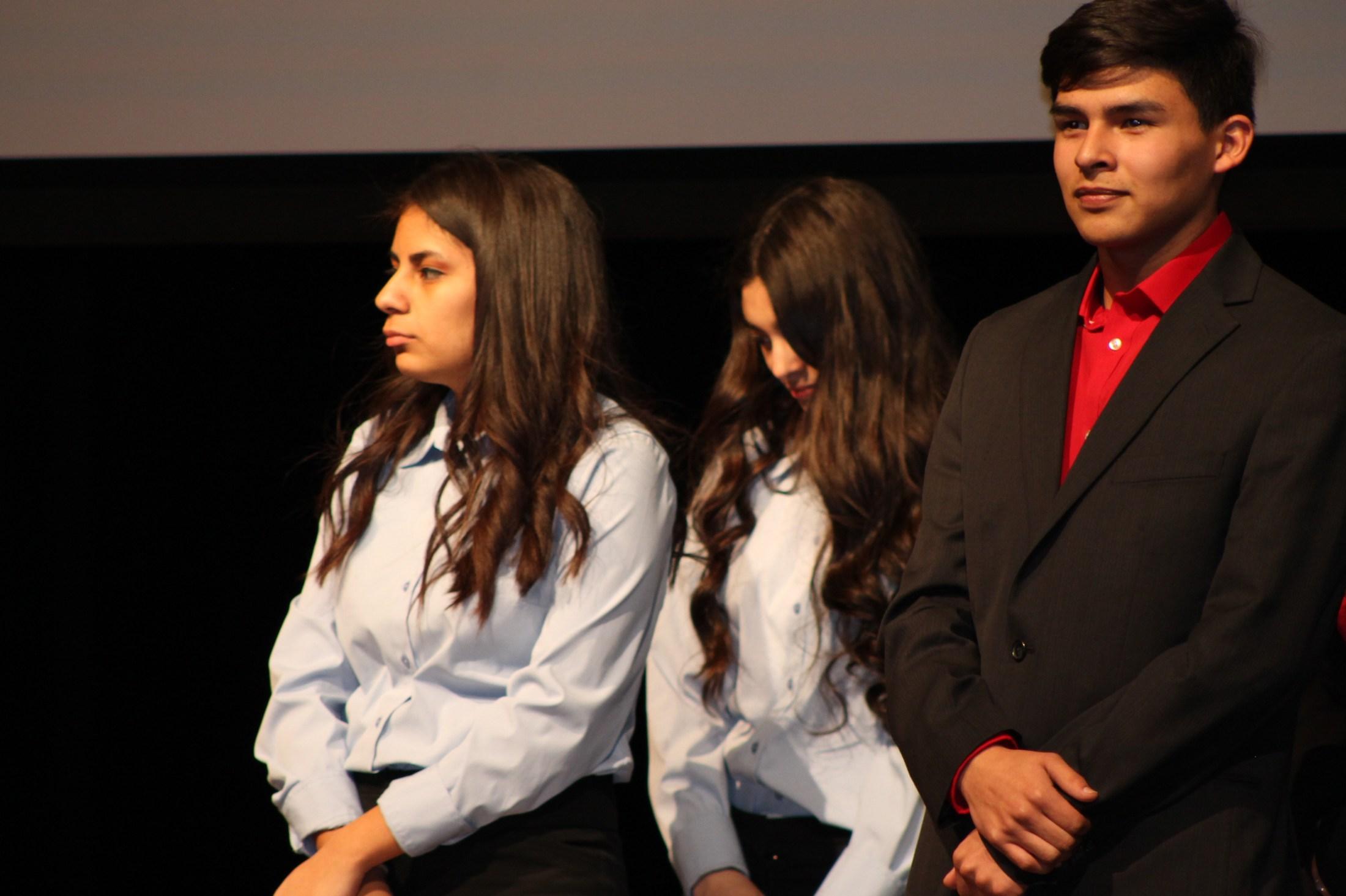 Students at awards
