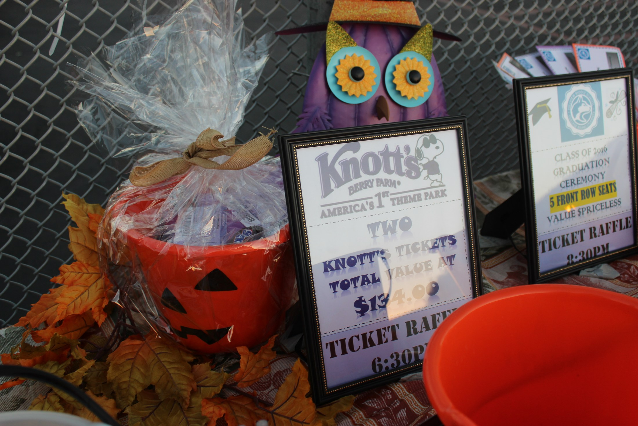 Raffle prizes and decorations