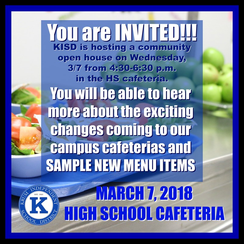 KISD Revved Up to Revamp Lunches Thumbnail Image