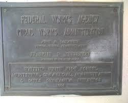 Vic Lopez Auditorium plaque