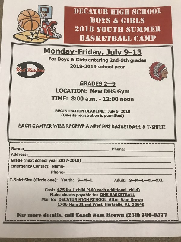 DHS Youth Basketball Camp