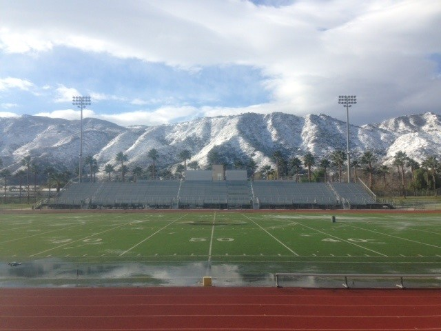 Mountain View from Football Field
