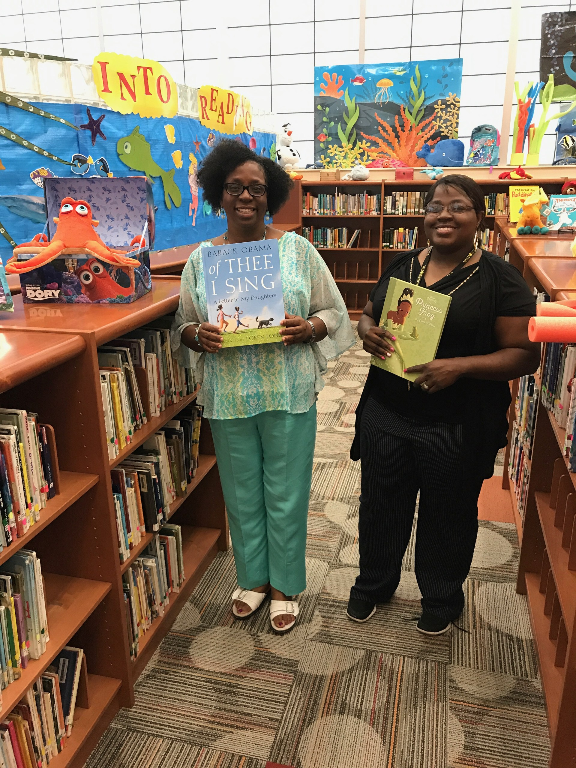 Media Center Team: Mrs. Lawrence, Media Specialist and Ms. Wilson, Media Para