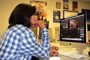 Juniors and seniors from Baldwin Park High School's Studio 409 take clips from a television crime show and piece together the shots to create their own interpretation of the scene.