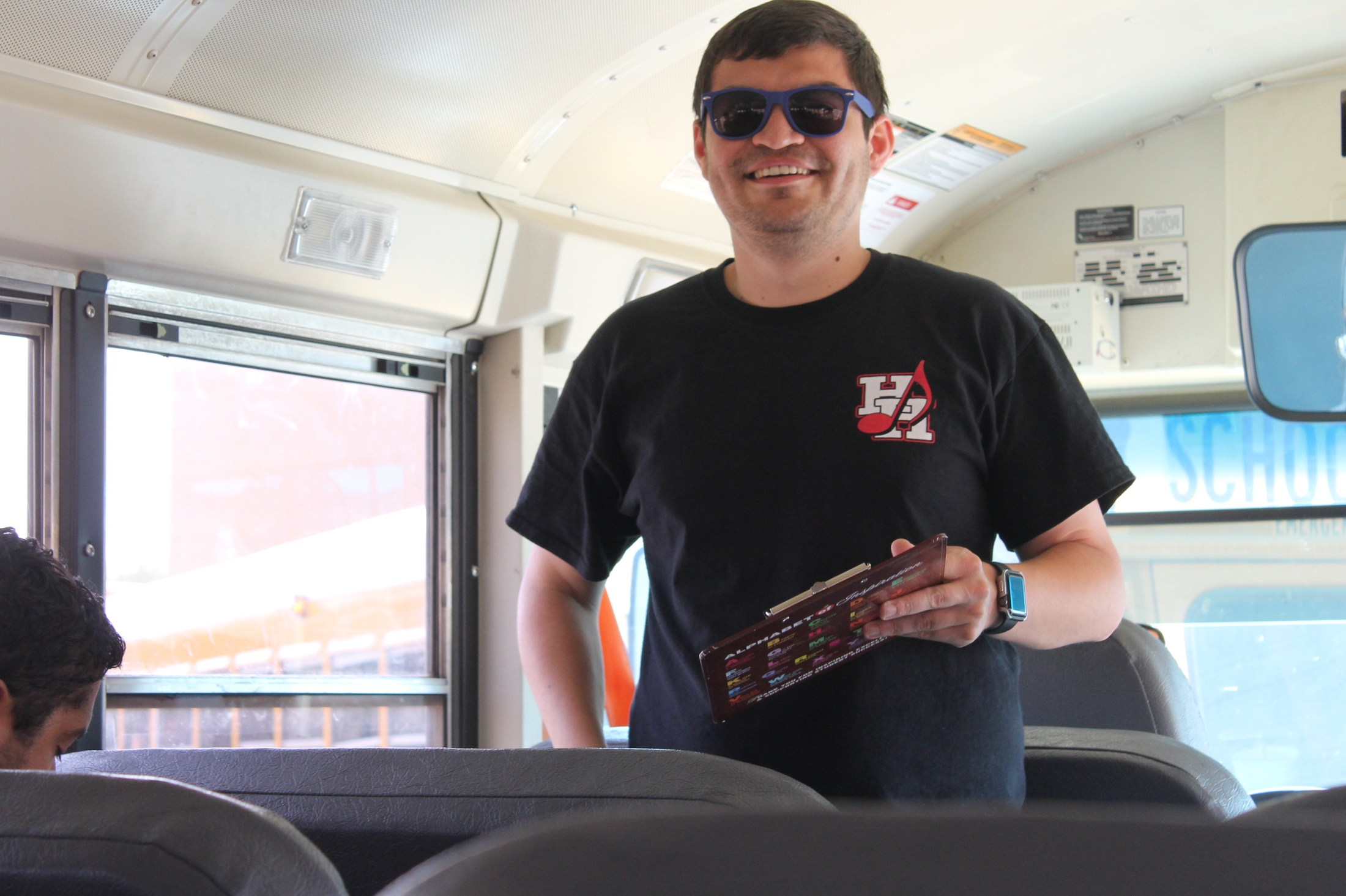 Band Director on the Bus