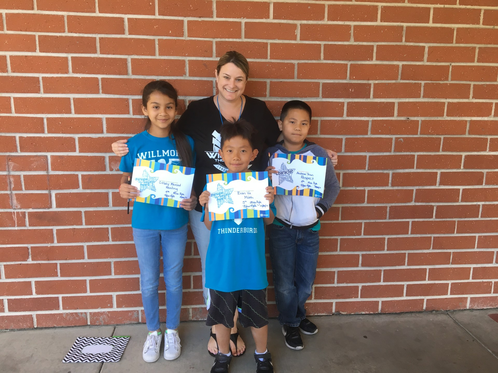 Ms. Pyle's October Honorees