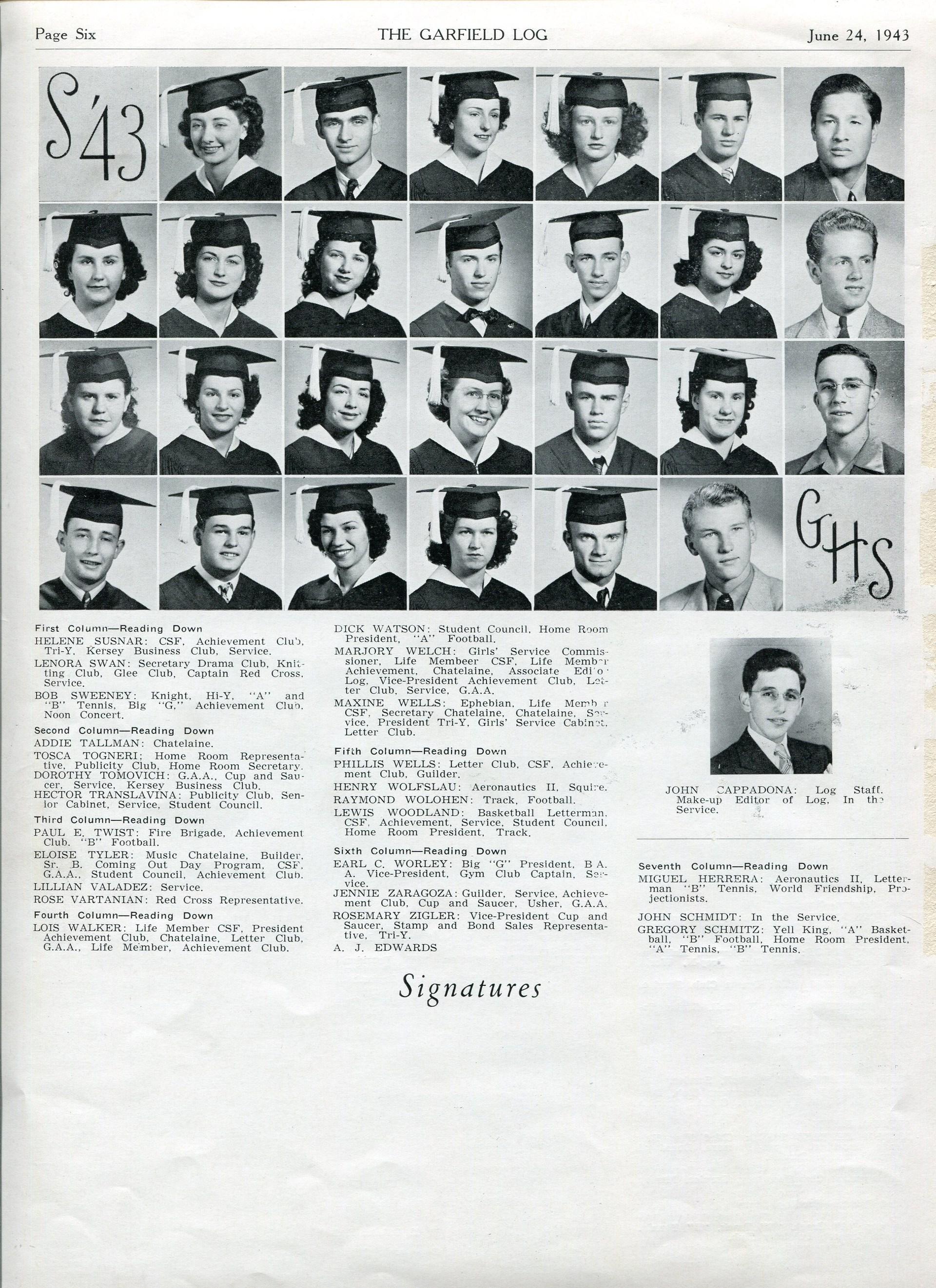summer class 1943