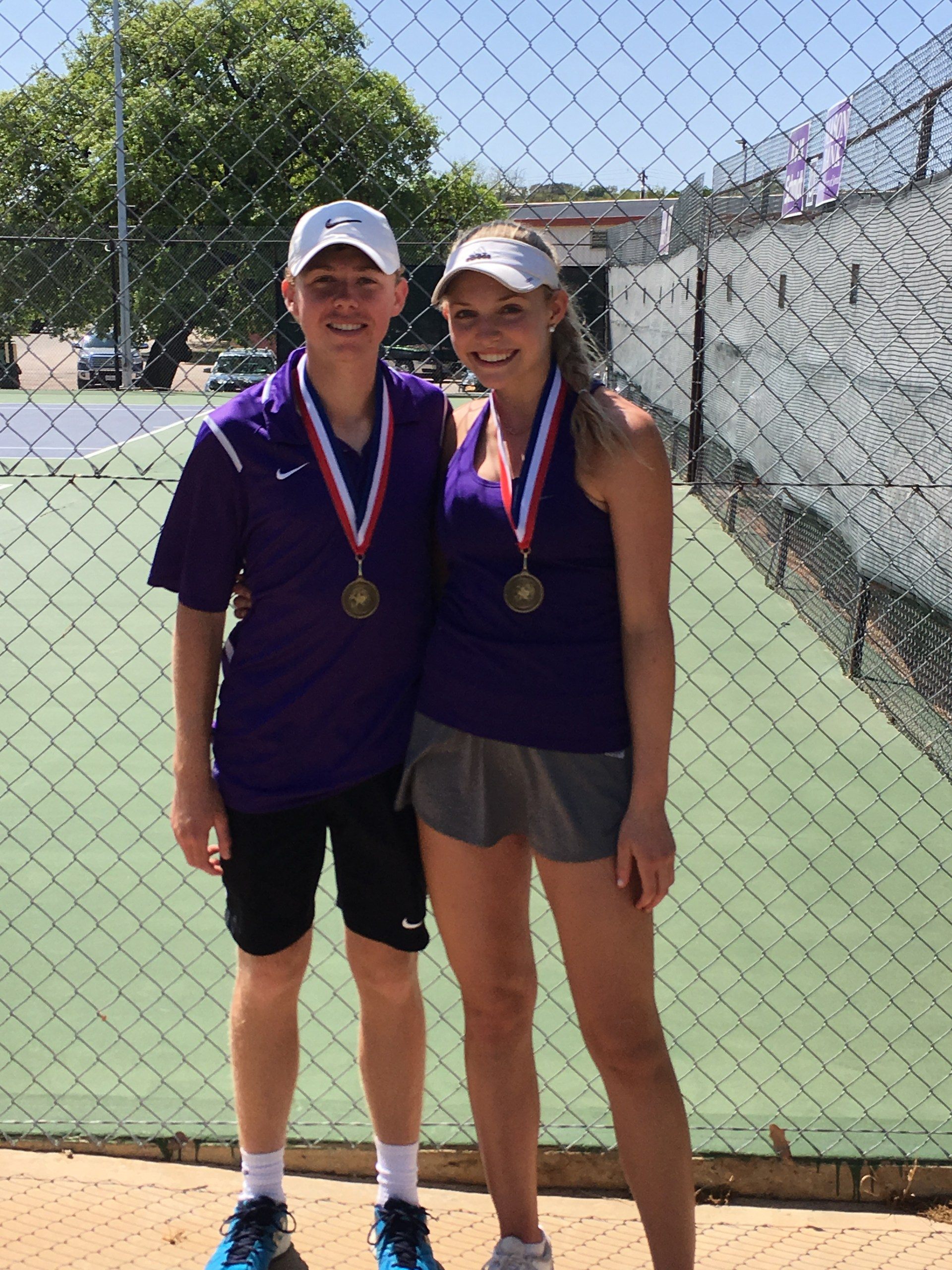 Cason Dudney & Ryli Ruffin - Varsity Mixed Doubles Champs